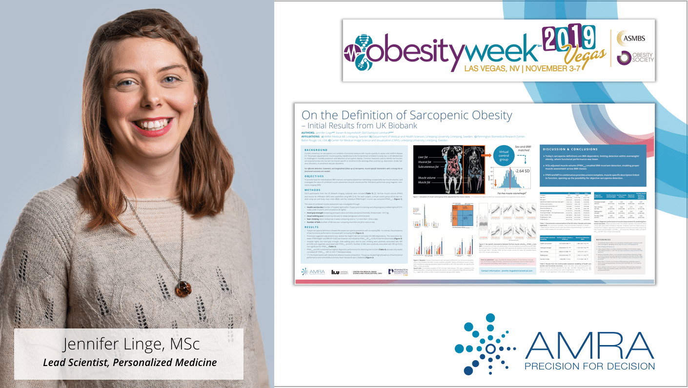 AMRA's Abstract Accepted for Poster Presentation and Lightning Talk at ObesityWeek 2019 in Las Vegas