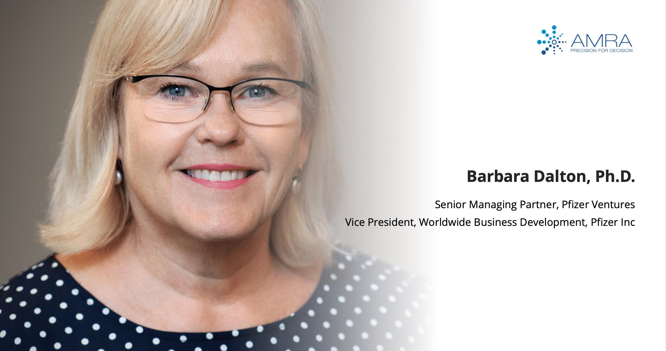 Pfizer Ventures' Barbara Dalton Appointed as AMRA Medical's Newest Board Member